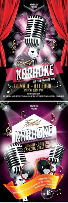 Karaoke Night Vol  Premium Flyer Template  Facebook Cover Http