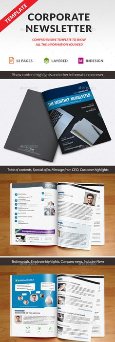 Newspaper Template A And A Format  Pages  Newsletter