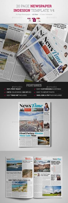 Tabloid Newspaper Template For Indesign  Template Newspaper