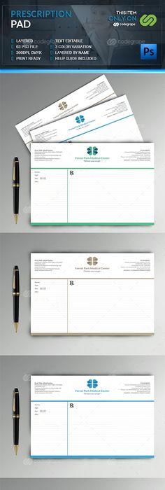 Prescription Pad Template  Template Print Templates And Fonts