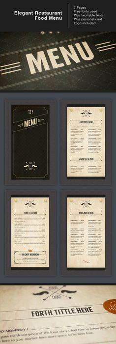 Rustic Restaurant Menu  Rustic Restaurant Restaurant Menu