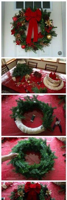 Easy DIY Christmas Wreath Ideas - Learn How to Make a Christmas - christmas wreath decorations