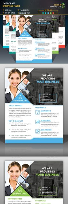 Corporate Flyer Template Vol   Flyer Template Template And