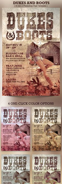 Country Music Night Flyer Template Is Great For Any Western Or