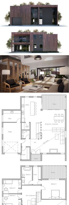 Small House Plan houses Pinterest Small house plans, Smallest - plan de maison simple