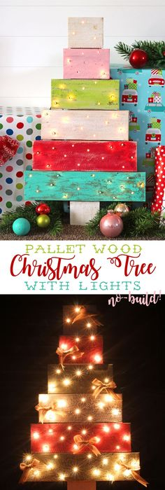 DIY Tree Pallet Wood Christmas Tree Craft - Consumer Crafts - wood christmas decorations