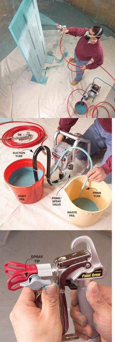 Learn how to use an airless paint sprayer to paint faster with perfectly smooth results. & Door Painting Jig | Doors Paintings and Woodworking