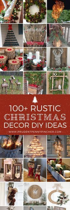 20 beautiful rustic ideas for christmas decorations rustic 100 rustic christmas decor diy ideas article from stephy prudent penny pincher solutioingenieria Images