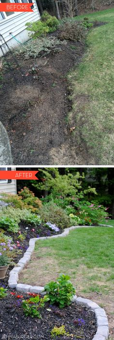 The Perfect Border For Your Beds: Defining A Gardens Edge With Inexpensive  Stone That Fit. Garden EdgingBorder ...