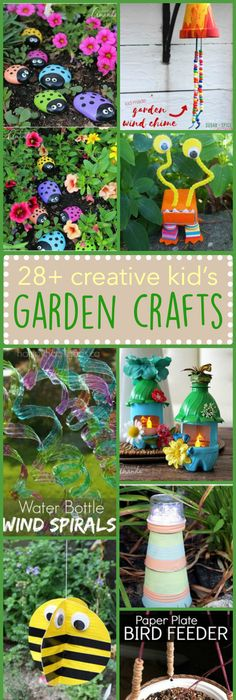 Great Kids Garden Crafts: Weve Collected Simple, Fun, Creative, And Unique Ideas  That Are Sure To Fit Just About Anyones Tastes. Awesome Design