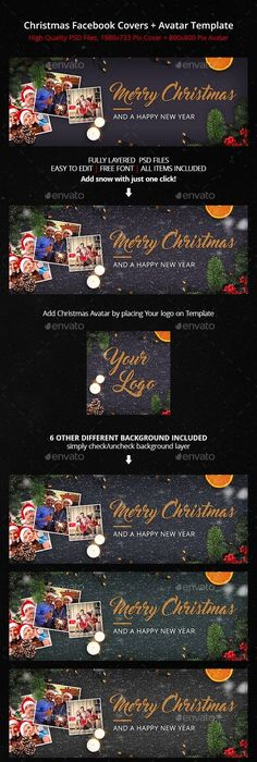 Christmas Facebook Cover + Avatar Template Avatar, Template and - new 6 template statement of work