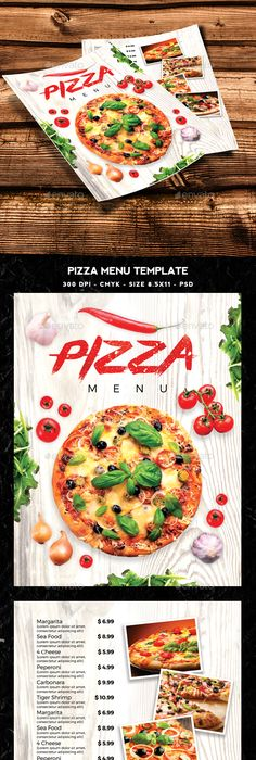 Pizza Menu On Behance   Pinteres