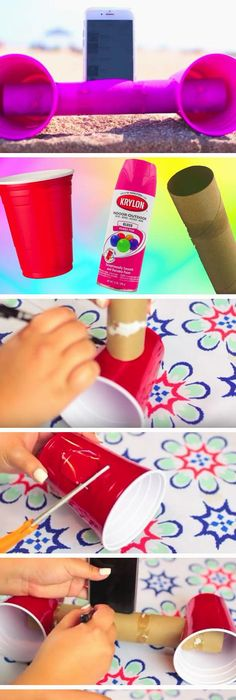 Do it yourself outdoor party games the best backyard entertainment make a plastic cup speaker 22 diy beach hacks for teens that will change your solutioingenieria Choice Image
