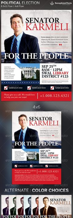 Campaign Flyer Template Campaign With These Elegant Free Political