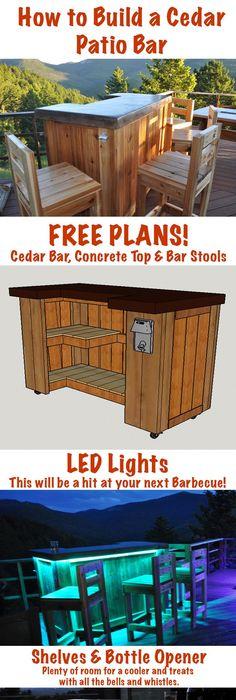 Patio Bar Plans – How To build DIY Woodworking Blueprints ...