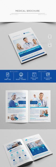 Medical BiFold Brochure V  Brochure Template Brochures And Medical