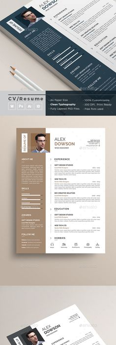 Resume Template - CV Template with Cover Letter - MS Word on Mac
