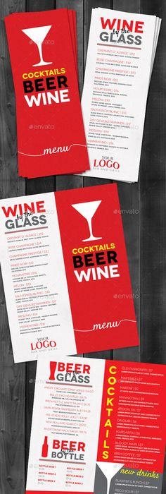 Lounge Bar Drink Menu (Modern) Drink menu, Bar drinks and Menu - bar menu template