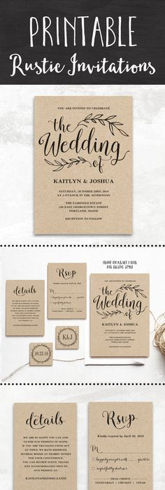 rustic modern wedding invitations rustic modern modern and etsy
