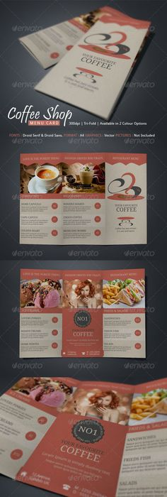 Coffee Shop Menu Template By Stocklayouts Download Edit Print