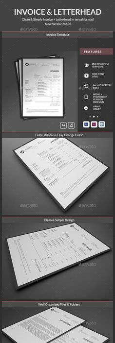 Invoice  Template Ai Illustrator And Typography Design