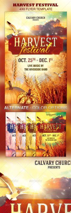 church fall festival flyer templates