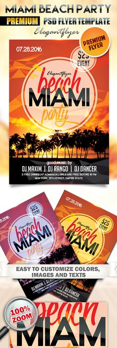 Free Summer Sunset Beach Party Flyer Psd Template Designyep  Free