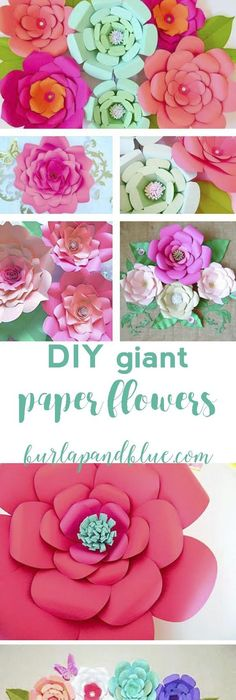 How to make large paper flowers easy diy giant paper flower large how to make large paper flowers easy diy giant paper flower large paper flowers flowers and crafts mightylinksfo