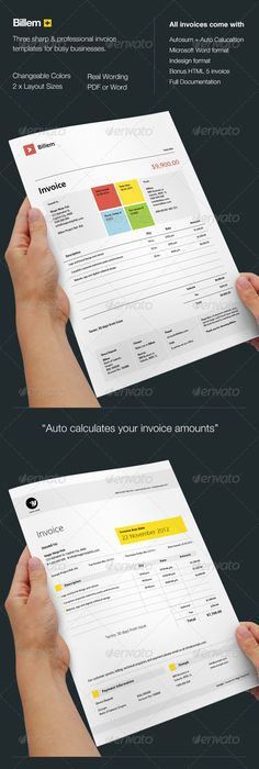 Creative Invoice Template Designs  Minimal Behance And Business