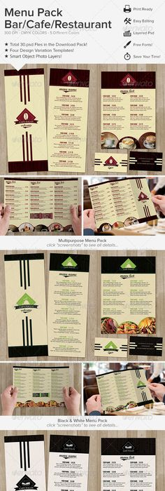 Restaurant Folding Delivery Menu On Behance  Projects To Try