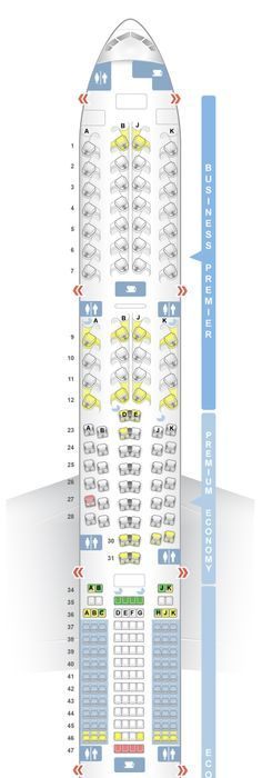 Air Canada 777 300er Seat Map Airplanes Airports