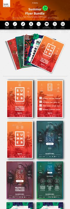 Sun Palms Flyer Psd Flyer Templates Flyer Template And Template