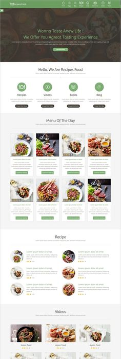 Recipe food bootstrap template template forumfinder Images
