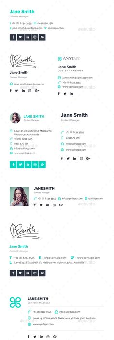 15 Awesome Email Signature PSD Templates Mail signature, Template - outlook signature template