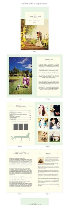 Rustic  Romantic   Page Brochure  Brochures Professional