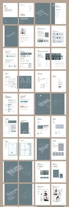 Brand Manual Template InDesign INDD - 48 Pages, A4 & US Letter ...