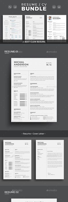 Clean Resume Job letter, File format and Creative design