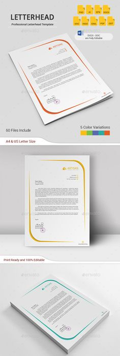 Create A Modern Letterhead For Us Logo Files Uploaded And Ready