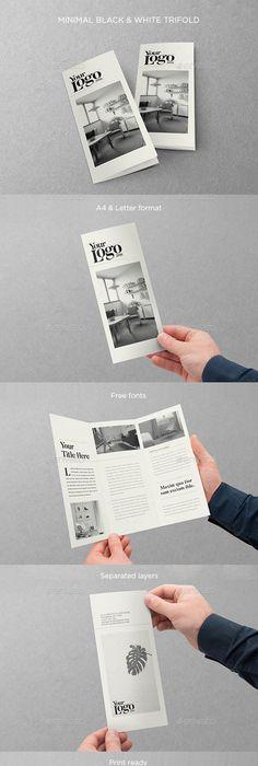 Multipurpose Square Trifold Brochure Brochure Template Brochures