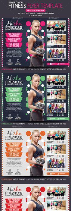 Fitness Gym Center 4 Flyer Templates Gym Center Flyer Template