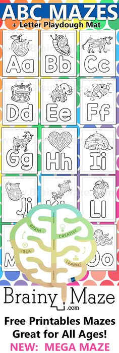 My A to Z Coloring Book Letter F coloring page - pictures for every - new hidden alphabet coloring pages
