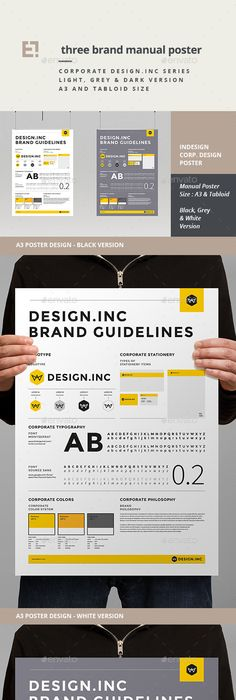 Brand Manual   Brand manual, Template and Brochures