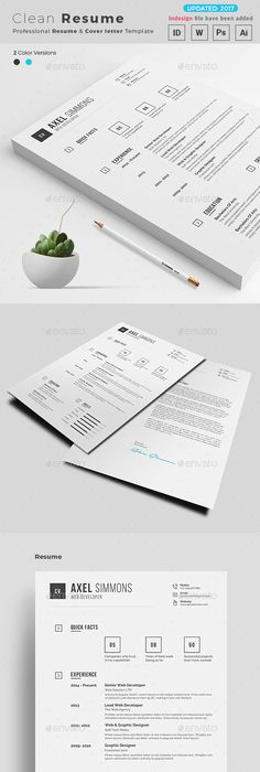 Resume Ai illustrator, Template and Resume layout