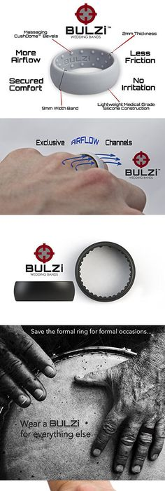 Silicone Wedding Ring with Unique GlossyMatte Aspect Perfect