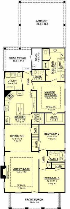 excellent bungalow plans. First Floor Plan of Bungalow Cottage Craftsman House 65870  Dream house Pinterest plans and
