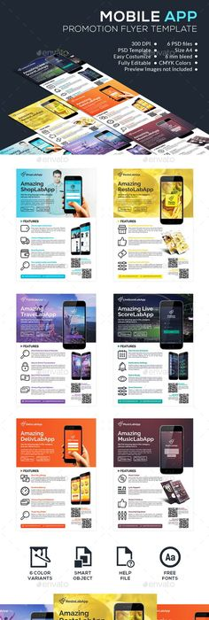Mobile Apps Promotion Flyer Template By Business Templates On