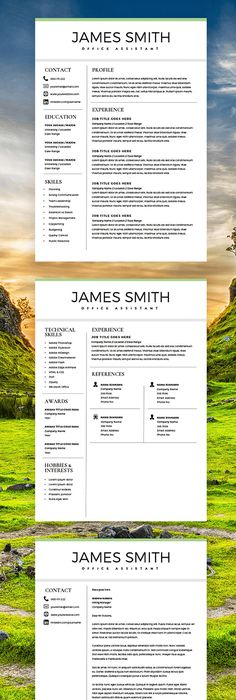 Modern Resume Template + Cover Letter - CV Template - MS Word on Mac - executive resume templates word