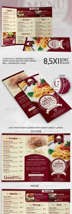 Thai Restaurant Menu Print Bundle Templates Psd Vector Eps