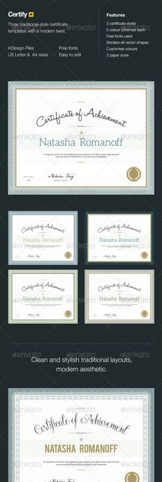 A Good Looking Certificate Brochure Template To Create
