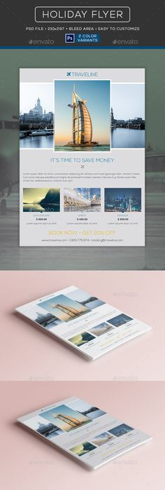 Travel - Vacation Flyer Template Flyer template, Fonts and Template - Vacation Brochure Template